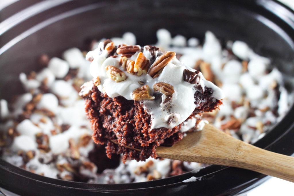 Rocky Road Chocolate Spoon Cake
