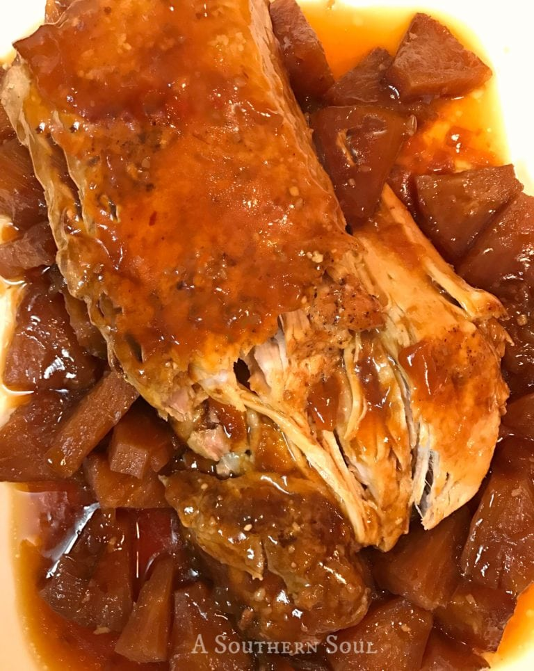 Sweet and Sour Pork Loin with Pineapple