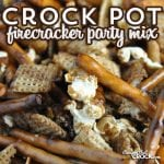 Bring a little fire to the party with this delicious Crock Pot Firecracker Party Mix. It is a yummy snack with a kick!