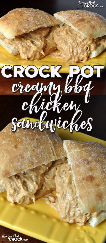 Be it a tailgating party, holiday party, pitch-in or back yard barbecue, this Creamy Crock Pot BBQ Chicken Sandwiches will have everyone asking for more!