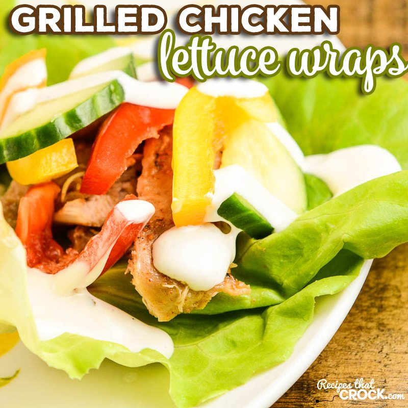 These chicken lettuce wraps are a quick and easy way to make a grilled chicken dinner and enjoy some fresh veggies! This is one of a handful of non-crockpot recipes that readers have been asking us to share. It is a great low carb recipe that is super simple to make at home or even while camping on the go! #Chicken #LowCarb