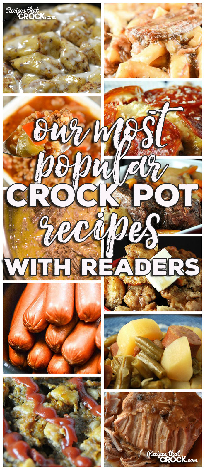This week for our Friday Favoriteswe haveOur Most Popular Crock Pot Recipes with Our Readers like Cooking Hot Dogs in Bulk in a Crock Pot,Slow Cooker Beef Noodles,Crock Pot Ham Broccoli Cheese Casserole,Slow Cooker French Toast Casserole,Creamy Mississippi Instant Pot Roast,Crock Pot Old Fashioned Meatloaf,Crock Pot Mississippi Chicken Thighs,Crock Pot Bourbon Chicken,Crock Pot Chicken and Stuffing Casserole,Crock Pot Crustless Pizza,Crock Pot Pork Loin with Gravy,Crock Pot Chicken Drumsticks,Slow Cooker Stuffed Green Pepper Soup,Crock Pot Cinnamon Roll Casserole,The Perfect Crock Pot Roast andCrock Pot Sausage, Green Beans and Potatoes.