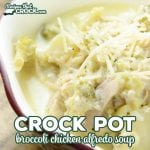 Do you love Chicken Alfredo? Then you HAVE to try this Crock Pot Broccoli Chicken Alfredo Soup. It is the perfect combination of Broccoli Cheese Soup and Chicken Alfredo. Low Carb readers will love this as an alternative to their favorite pasta dish.