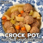 If you are looking for a super simple recipe that can crock all day long and tastes delicious, then you don't want to miss this yummy Crock Pot Meatball Vegetable Soup!
