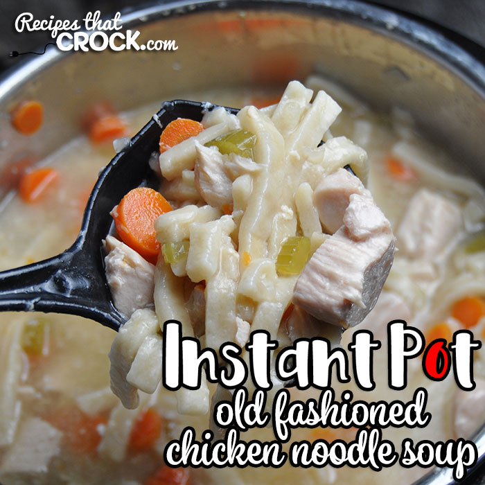 This Electric Pressure Cooker Old Fashioned Chicken Noodle Soup recipe takes an all-day recipe and turns it into a quick and easy recipe! You'll love it! Great Instant Pot or Ninja Foodi Recipe!