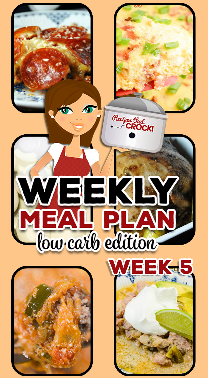 Are you looking for good low carb crock pot recipes? This week's Low Carb Crock Pot Menu includes Crock Pot Mississippi Whole Chicken, Pork Chili Verde, Instant Pot Hard Boiled Eggs and more!