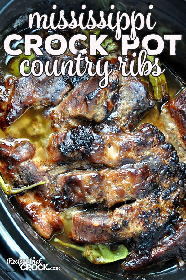 If you love a good recipe that is easy, delicious and fall-apart tender, then you are going to love this Crock Pot Country Ribs {Mississippi Style} recipe!