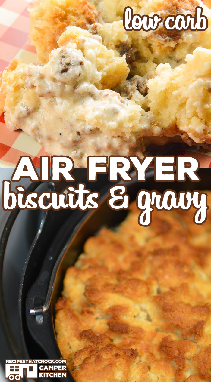 This Air Fryer Biscuits & Gravy recipe is a game-changer. This low carb recipe makes the ultimate comfort breakfast all in one pot.