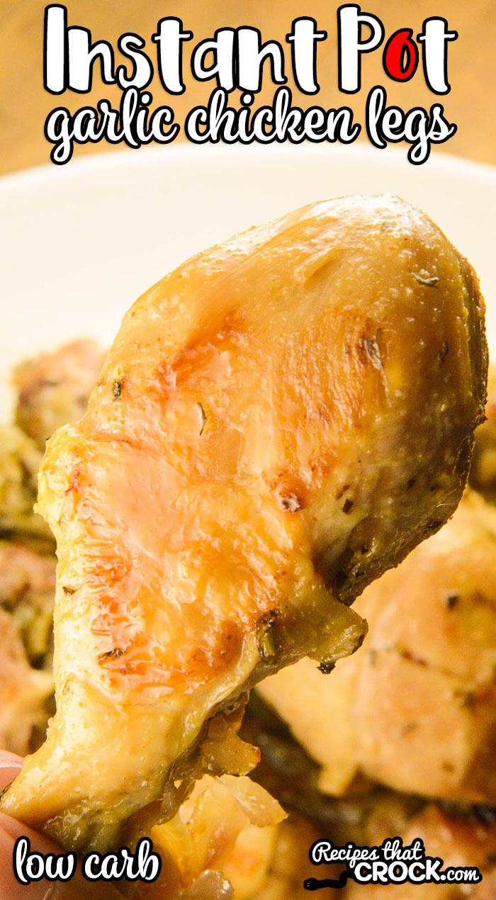 Are you looking for an easy chicken drumstick electric pressure cooker recipe? Let us show you how quick it is to throw our Instant Pot Garlic Chicken Legs together. This buttery garlic main dish is low in carbs and has everyone asking for seconds.