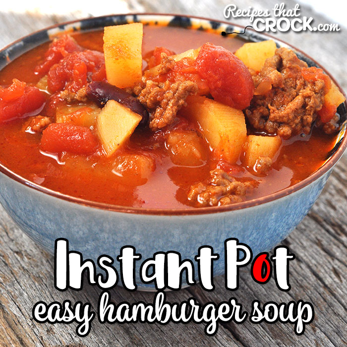 This Easy Instant Pot Hamburger Soup recipe gives you a wonderfully flavored, hearty soup in less than an hour that tastes like it has been cooking all day!