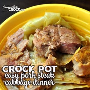 If you are looking for a truly easy one-pot meal, this Easy Crock Pot Pork Steak Cabbage Dinner is just what you need! Simple and delicious!