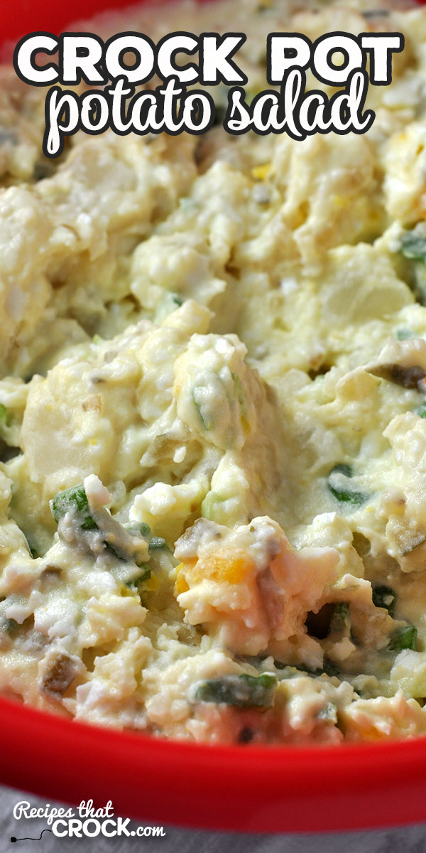 This Crock Pot Potato Salad is super easy to make and has an amazing flavor! The secret? The recipe is my Grammas! Everyone will want your recipe! via @recipescrock