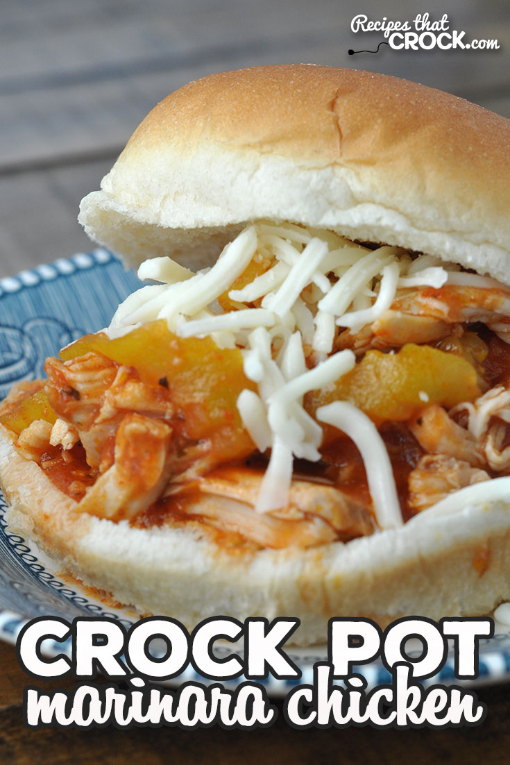 This Crock Pot Marinara Chicken recipe is a great dump and go recipe your entire family will love! Feeding a crowd? Double it up! Quick, easy, delicious! via @recipescrock