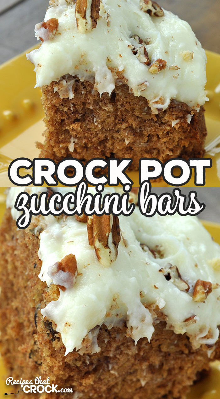 This Crock Pot Zucchini Bars recipe is a crock pot version of Momma's tried and true oven recipe. It is the perfect summer time recipe! via @recipescrock