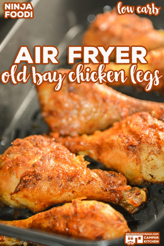 Our Air Fryer Old Bay Chicken Legs are a super simple way to make incredible fried chicken in your Ninja Foodi or traditional air fryer. No one will believe they are low carb too!