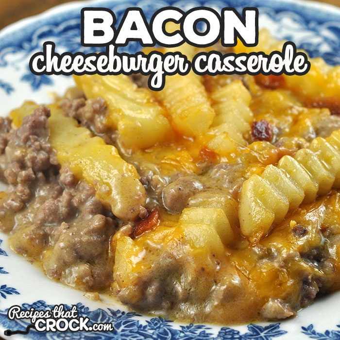 This Bacon Cheeseburger Casserole oven recipe is super easy to make and is ready in under and hour. My entire family gobble it up! I bet yours will too!
