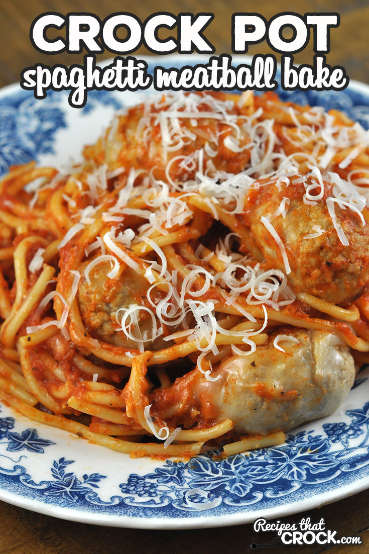 If you want an easy, delicious and hearty meal, check out this Crock Pot Spaghetti Meatball Bake. It is so yummy and sure to please all who eat at your table! via @recipescrock
