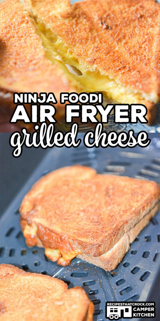 This recipe for Air Fryer Grilled Cheese is a super easy Ninja Foodi or traditional Air Fryer recipe that makes a perfectly toasted outside and melted cheesy inside. Low carb options too!