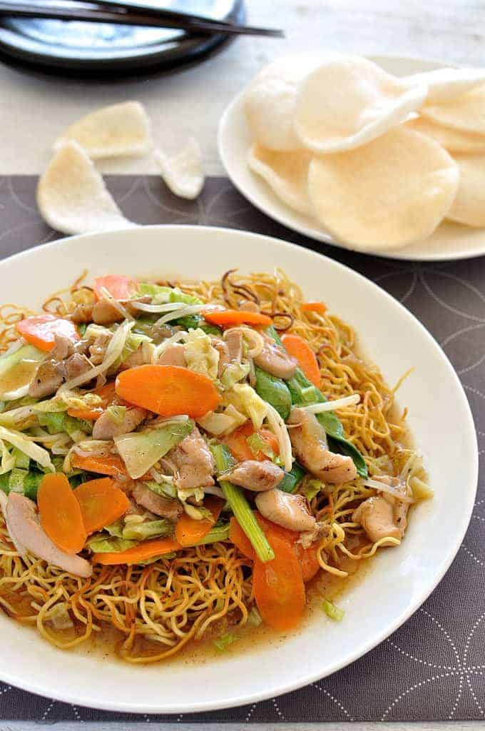 Mein Chow And Noodle Rice Dry Chicken