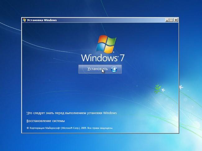 Windows 7 installeren.