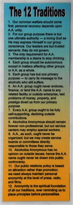 Aa 12 Steps And 12 Traditions Aa Bookmark Recovery Shop