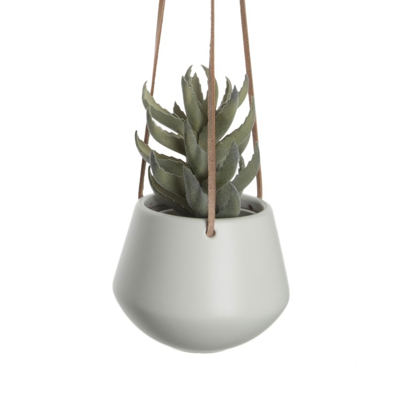White Hanging Plant Pot