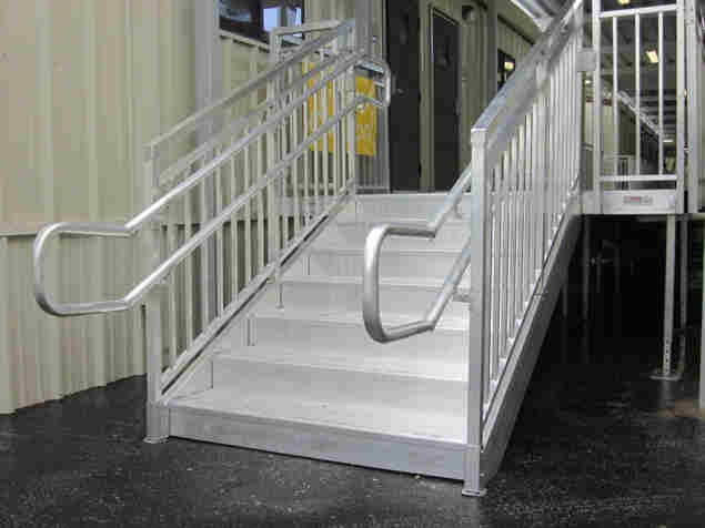 Aluminum Steps With Handrail Redd Team | Aluminum Stair Railings Interior | Wrought Iron | Iron Staircase | Cable | Outdoor | Handrail