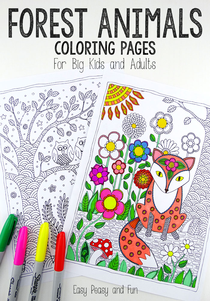Forest-Animals-Coloring-Pages - Red Ted Art's Blog