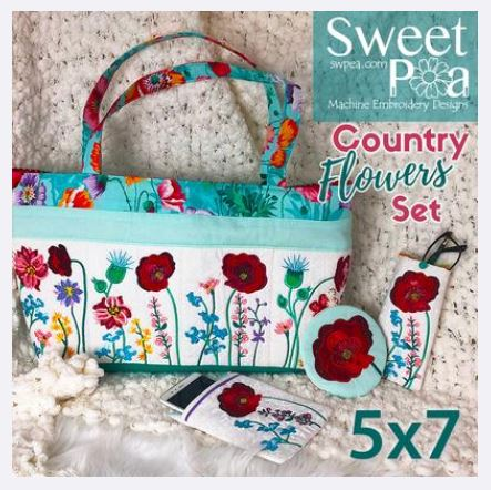 sweet pea embroidery # 79
