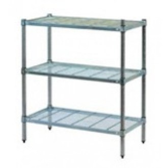 Wire Grid Post Style Shelving 3 Tiers 60180Z