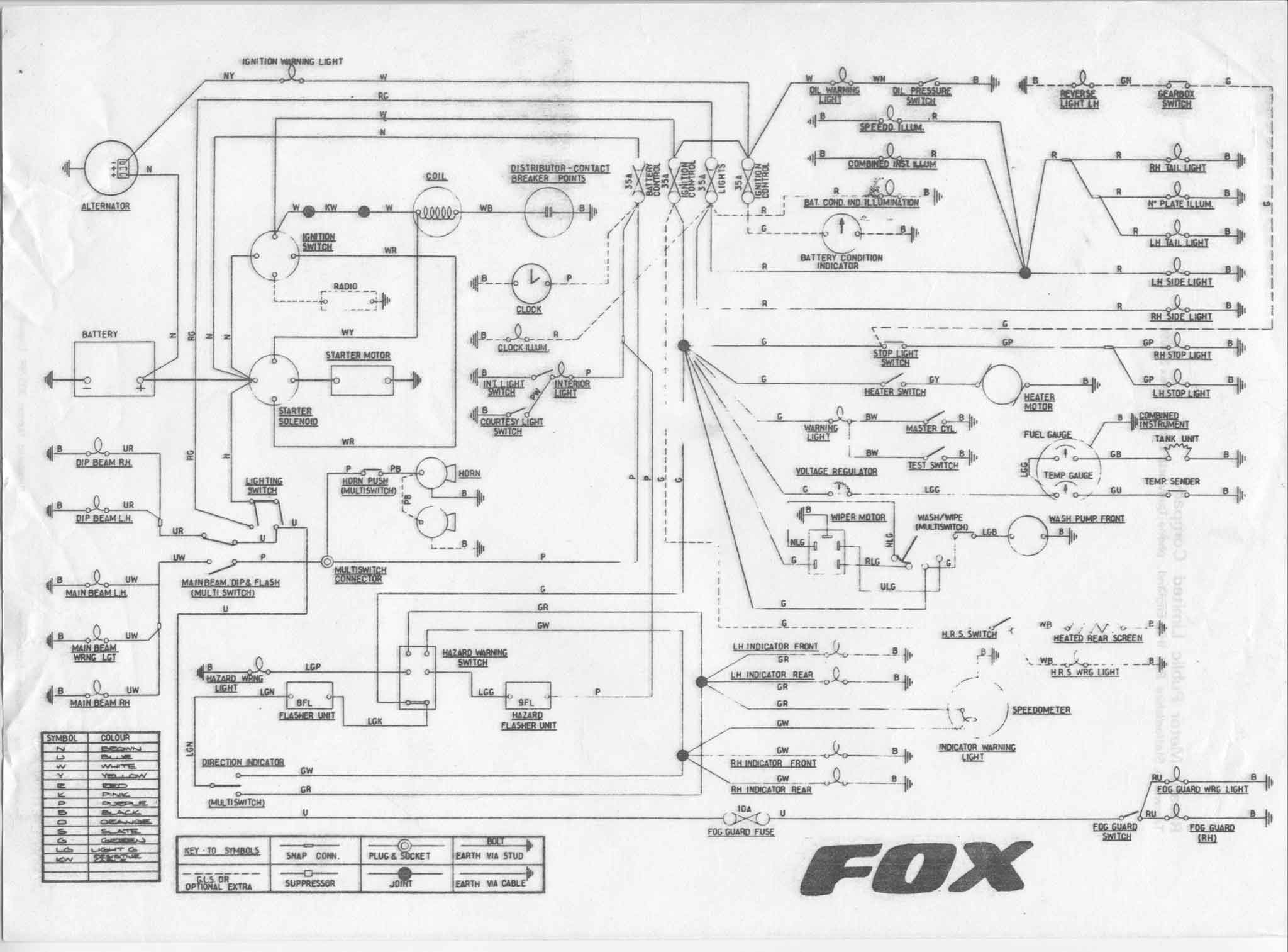 Reliant fox wiring diagram covers most of tempest asquith vantique mk2 and mk3 robin