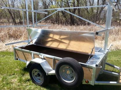 Custom Canoe Kayak Trailer With Lockable Gear Box