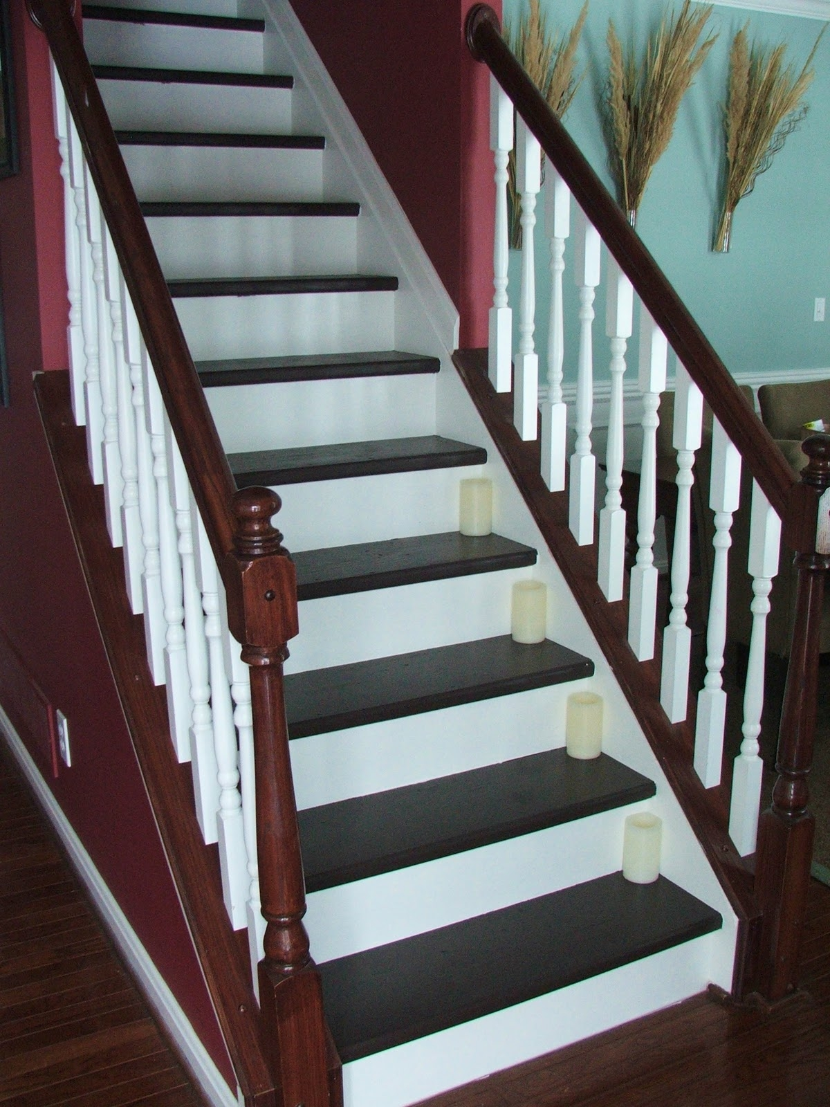Remodelaholic Top Ten Stair Makeovers And Link Party | Wood Look Stair Treads