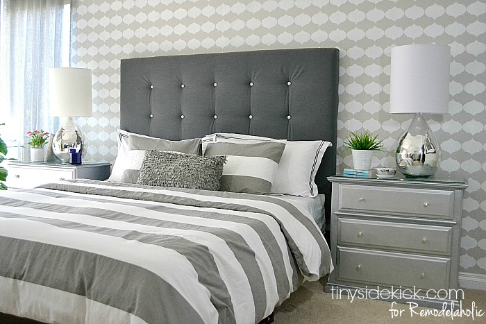 Remodelaholic   DIY Tufted Upholstered Headboard Tutorial DIY Upholstered Headboard Tutorial   TinySidekick com for Remodelaholic