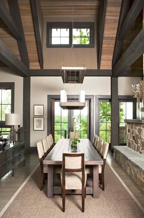 White Woodwork Dark Hardwood Floors