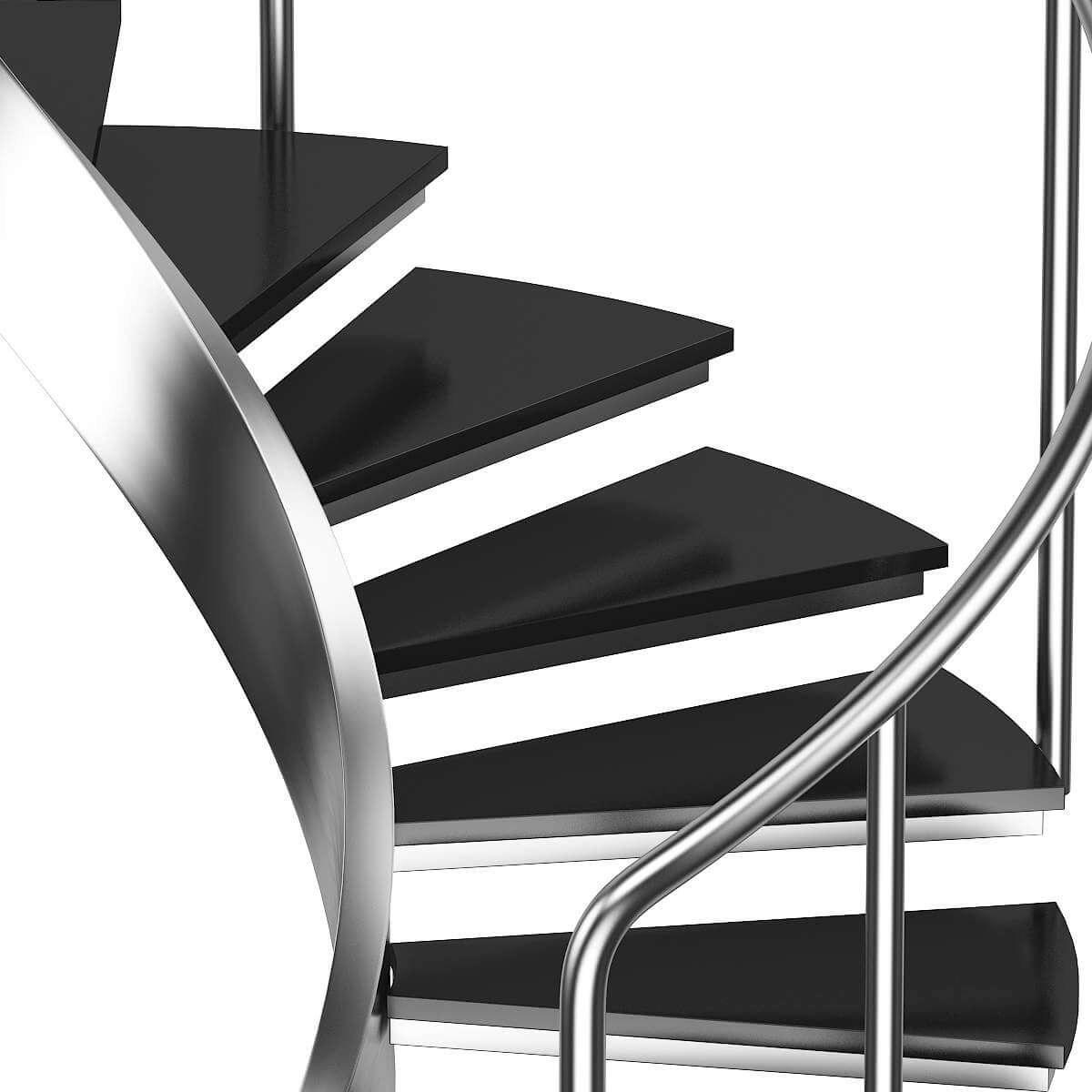 Black Metal Spiral Stairs 3D Model   Black Metal Spiral Staircase   Spiral Stairs   Cat Spiral   Arke   Abandoned   Circle Metal