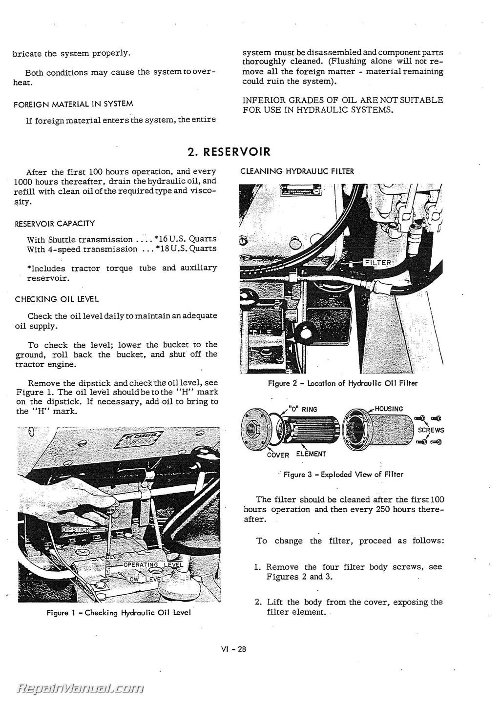Case 530 Backhoe Hydraulic Cylinders