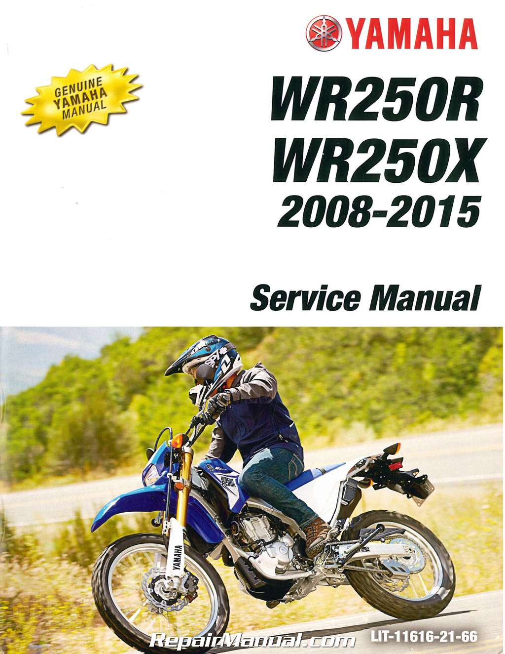 2008 2015 Yamaha Wr250r Wr250x Motorcycle Service Manual