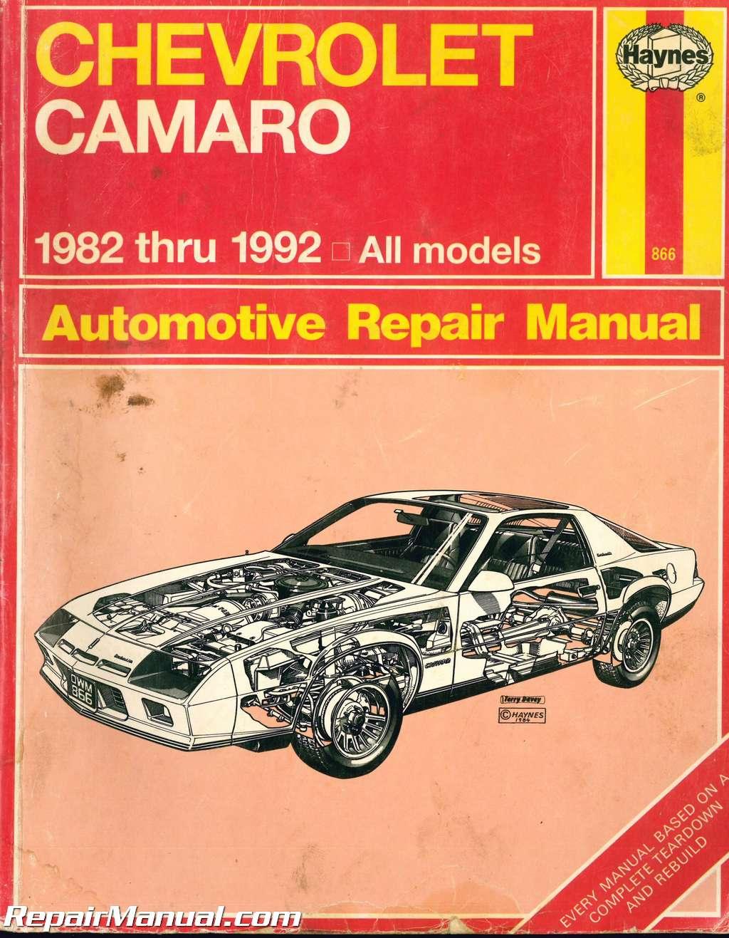 Used Haynes Chevrolet Camaro 1982 1992 Auto Repair Manual