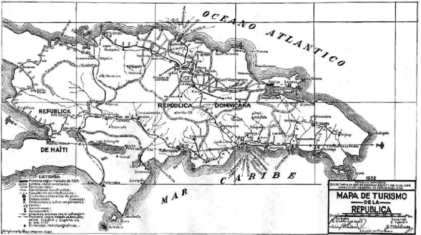 Mapa De Republica La En Dominicana Puertos