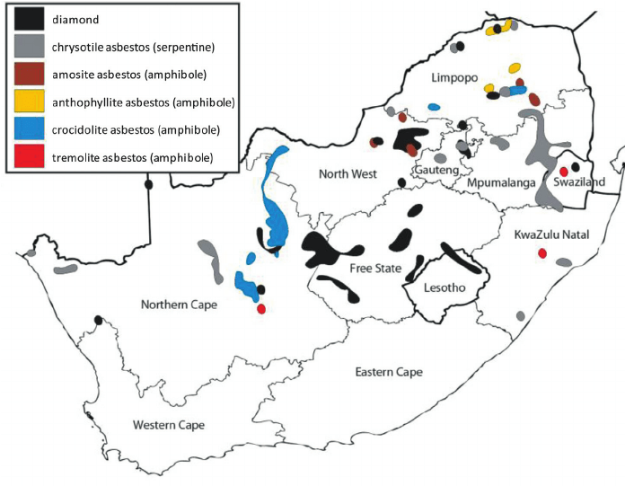 Map South African Diamond Mines