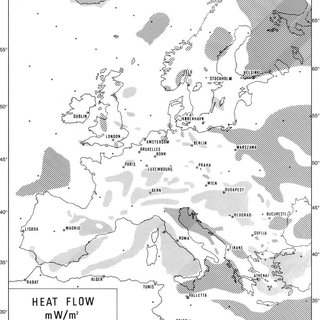 Schematic map of the heat flow after c ˇ ermak