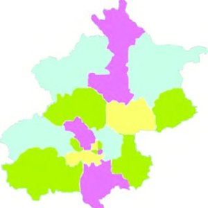 The Beijing map after coloring    Download Scientific Diagram The Beijing map after coloring