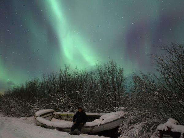 Breaks Northern Lights