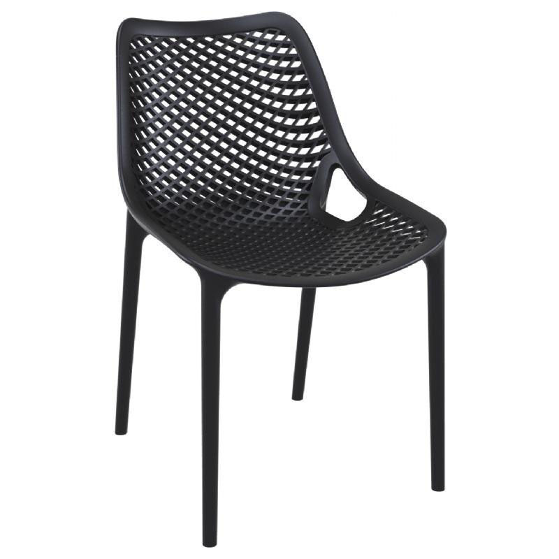 Black Resin Outdoor Dining Chair Isp014 Bla