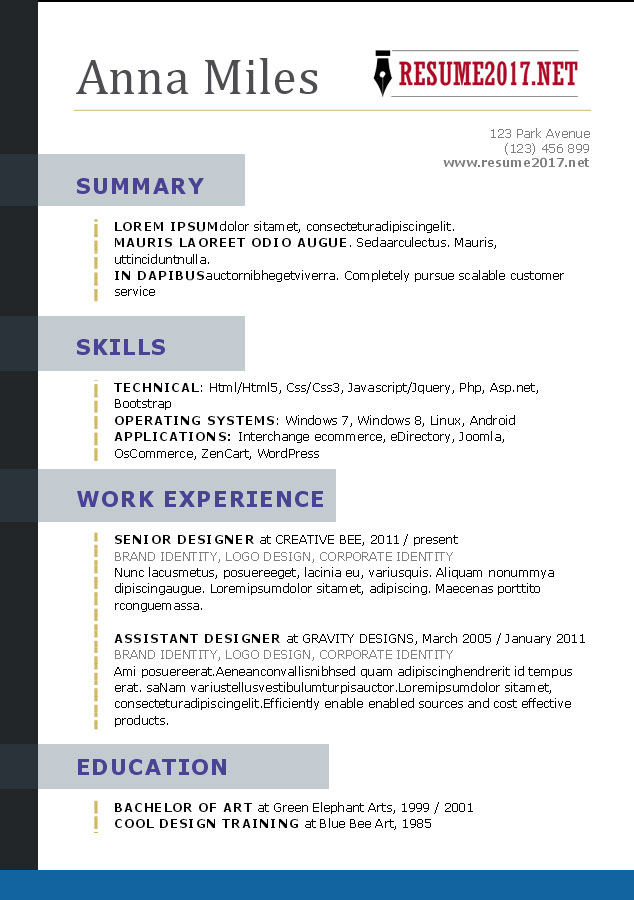 What Proper Resume Should Look