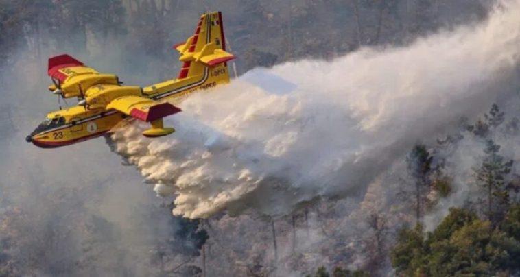 Incendi: canadair in azione tra Lettomanoppello, Serramonacesca e Pretoro. E' arrivato anche l'esercito