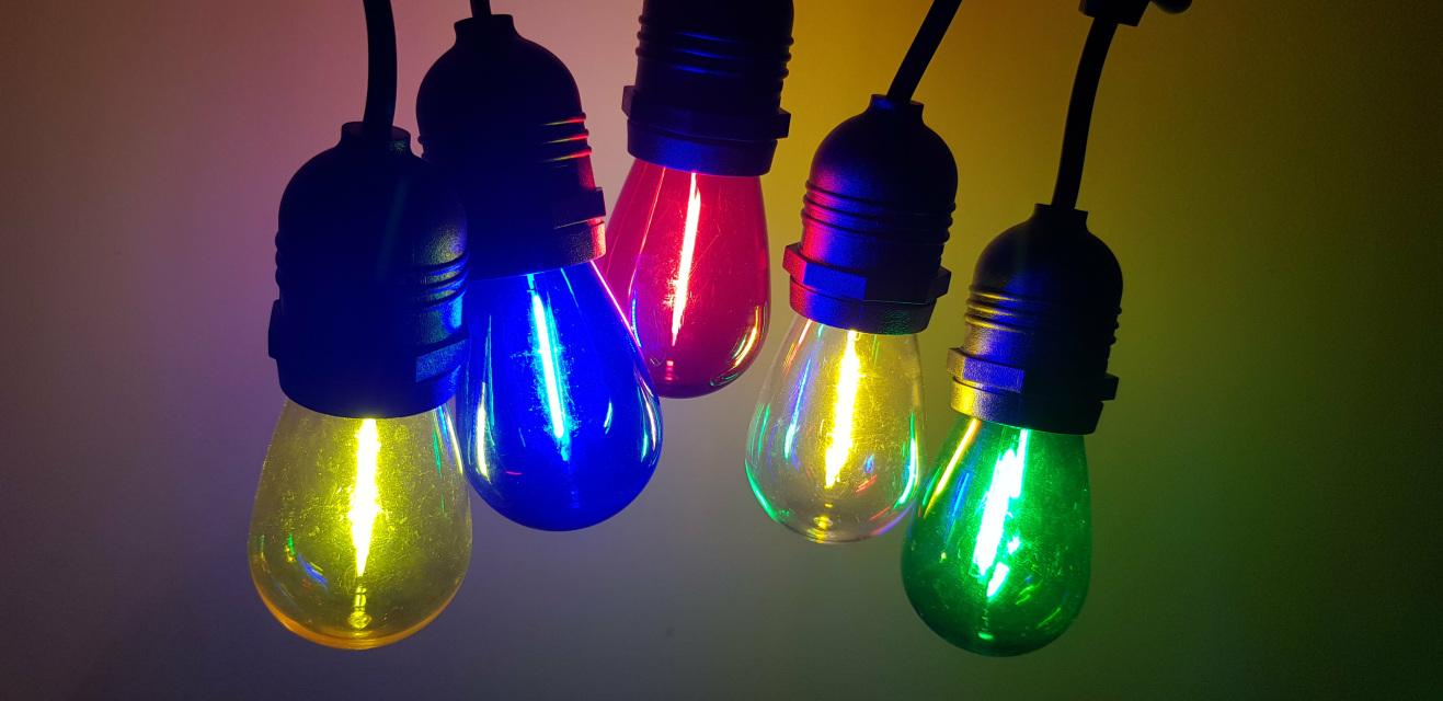 Bare Bulb String Lights