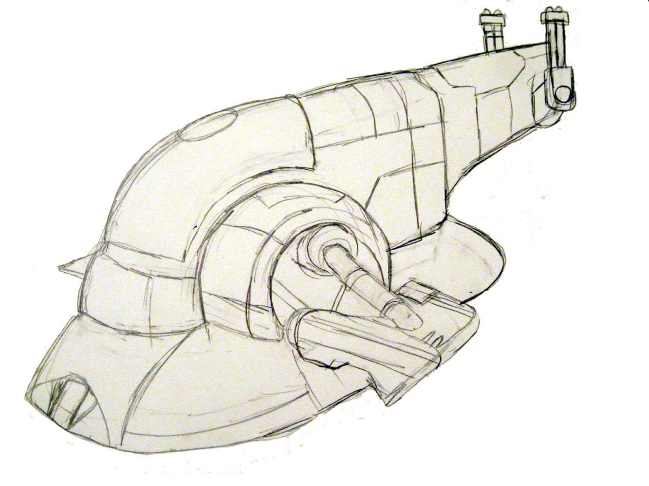 Boba Fett Slave Ship Drawing
