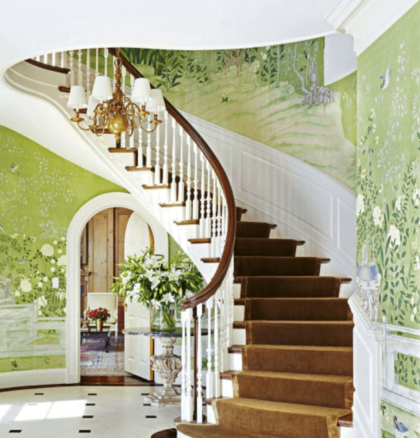 ≫21 Attractive Painted Stairs Ideas Pictures Painting Stairs | Designs For Staircase Wall | Stairwell | Stylish | Luxury | Painting | Stone